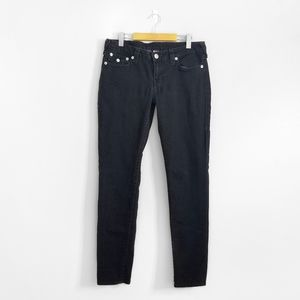TRUE RELIGION Black Low Rise Skinny Jeans